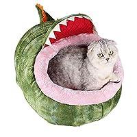 カドラー グリーン 猫 ハウス ペット ハウス ペット ベッド 冬 秋 オールシーズン 可愛い 犬 猫 ぐっすり眠れる ふわふわ 室内用 寒さ対策 保温 防寒 暖かい 快適 犬 ベッド L 猫 ベッド 犬 ハウス 猫 ハウス おしゃれ ドーム型