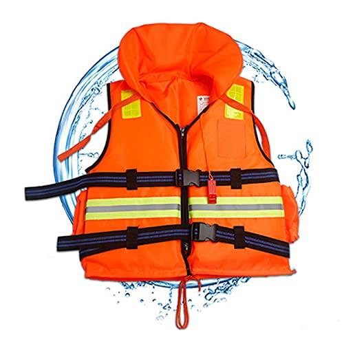 FHW Chaleco Salvavidas para Pesca En El Mar, Chaleco A La Deriva con Silbato De Emergencia, Dispositivo De Ayuda A La Flotabilidad Ligera, Adecuado para Adultos Y NiñOs,Amarillo