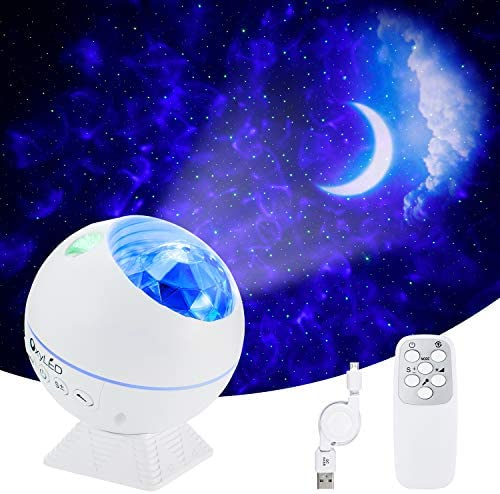Star Projector OxyLED Galaxy Light Projector with Moon LED Nebula Cloud 43 Color Effects Night product image