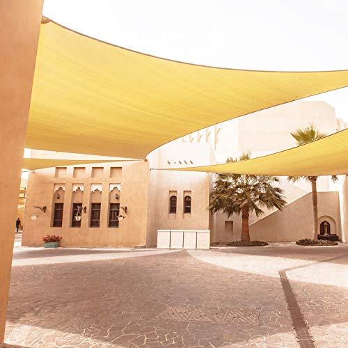 Sonnensegel, 1,8 m x 3 m, rechteckig, robust, aufrollbar, für den Außenbereich, Terrasse, Garten, Sonnensegel