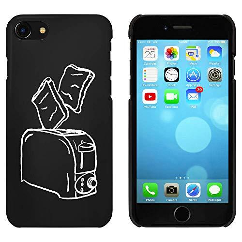 Azeeda Schwarz 'Toast und Toaster' Hülle für iPhone 7 (MC00208115)