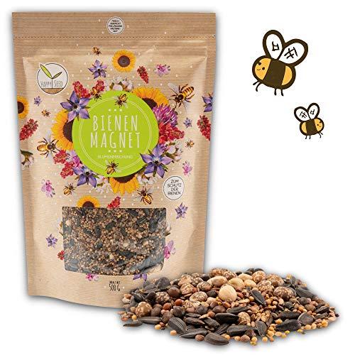 500g Semillas de flores de pradera para un colorido pasto de abejas - mezcla de semillas de flores silvestres ricas en néctar para abejas y mariposas (incl. eBook GRATUITO)