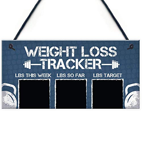 Meijiafei Chalkboard Weight Loss Countdown Tracker Diet Motivational Fitness Sign 10' X 5'