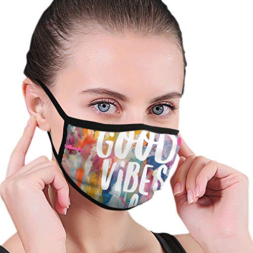 Fashion Mouth Mask Face Mask For Kids Teens Men Women, Good Vibes Only Jam