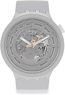 Swatch BIG BOLD STANDARD NEXT Quartz bio-sourced Material Strap, 16 Casual Watch 47mm Grey