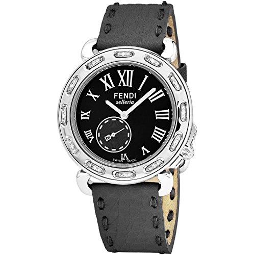Fendi Selleria 38mm grigio pelle Band orologio al quarzo F81031DCH.SNR06