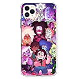 Compatible with iPhone 8 Plus/7 Plus (5.5 inch) Case, Shockproof Anti-Slip Clear Design Pattern,Soft TPU Bumper Cover Case for Steven Universe Lion Pink Fanart