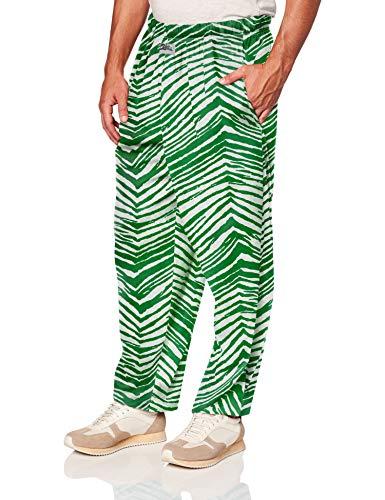 Zubaz Herren Classic Zebra Printed Athletic Lounge Pants, Kelly Green/White, 2XL