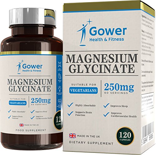 GH Glicinato de Magnesio 250mg Suplemento | 120 Pure Capsulas para Veganas | Magnesium Glycinate Altamente | Ideal para el Cansacio y Calambres Musculares | Con Instalaciones y Licencia ISO | Sin OGM