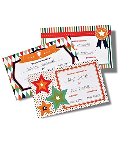 Assorted Write-in Award Certificates