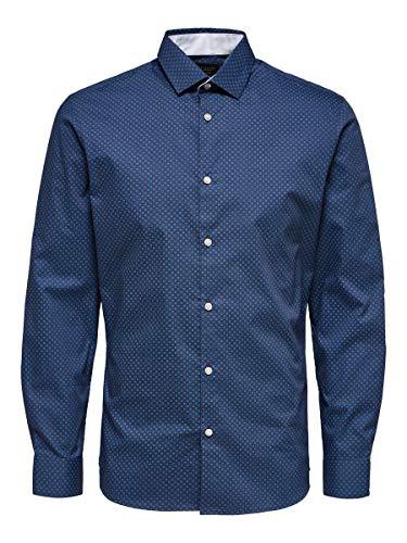 SELECTED HOMME Male Hemd Slim-Fit- SDark Blue
