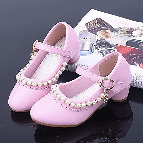 DLBJ Zapatos de Princesa para niñas Zapatos de Vestir para Banquetes de...