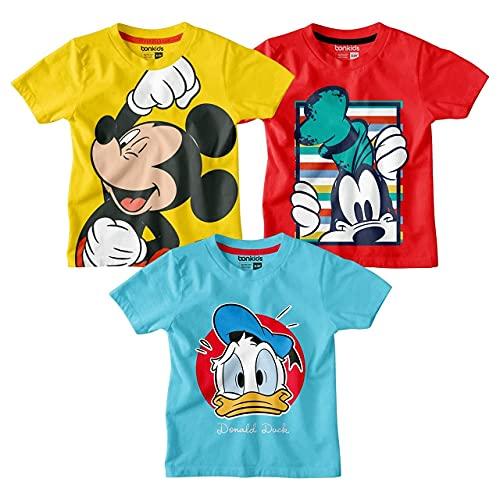 Bon Organik Boy's Classic Fit T-Shirt (BON7390_Multi 7 2 3 Years)
