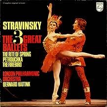 Stravinsky The 3 Great Ballets 1973 Dutch 3-LP vinyl set 6747094