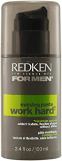 Redken Brews Work Hard Maximum Control Molding Paste, 3.4 Ounce