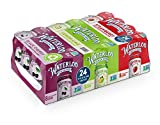 Waterloo Sparkling Water Variety Pack 24 Cans (Pack of 1) | 8 x Lemon-Lime, 8 x Black Cherry, 8 x Strawberrry | Zero Calories, Sugar, Sodium | Naturally Flavored