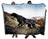 Pure Country Weavers German Shorthaired Pointer Robert May Dog Blanket Throw Woven from Cotton - Made in The USA (72x54)