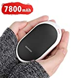 Rechargeable Hand Warmer with 7800mAh Battery, 2in1 Portable Double-Sided Pocket Warmer, 3 Heat