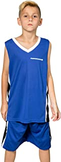 Premium Boys' Basketball Jerseys Shirt Sports Shirts and Athletic Shorts Set for Youth Kids Age 4-12 Team Uniforms
