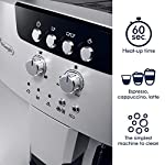 De'longhi esam04110s magnifica fully automatic espresso machine with manual cappuccino system silver 9 thermo block technology provides excellent heat distribution integrated burr grinder with adjustable settings consistent brewing every time