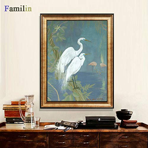 vhidfsjgdsfik (No Frame) 50x70cmToile imprimée Peinture Murale Imprime Home Decor Animal Wall Art Peinture Paon Vintage Bleu Paon