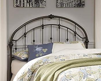 Ashley Furniture Signature Design - Nashburg Metal Headboard - Queen Size - Component Piece - Vintage Casual - Headboard Only - Bronze Finish