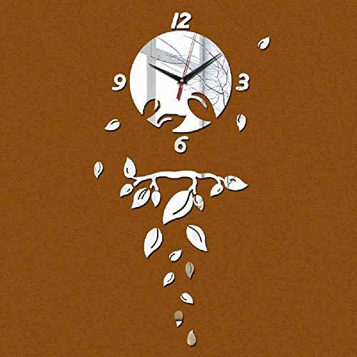 WDQTDY Nuevo espejo de acrílico moderno diy reloj de pared reloj de...