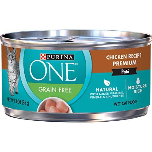 Purina ONE Natural, Grain Free Pate Wet Cat Food, Chicken Recipe - (24) 3 oz....