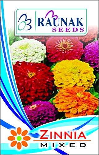 Tradico Zinnia Assortiment de graines de sements/4 Paquets de Super AGRI Vert