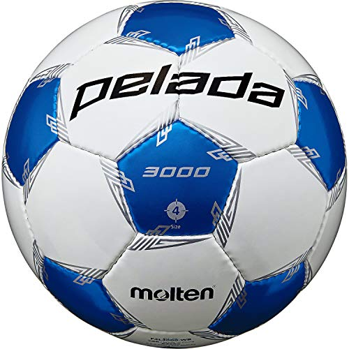 モルテン(molten) サッカーボール 4号球 小学生 検定球 ペレーダ3000 F4L3000-WB ホワイト×メタリックブルー F4L3000-WB