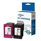 ECSC Remanufacturado Tinta Cartucho Reemplazo Por HP Deskjet 1110 2130 AiO 2132 AiO 2134 AiO 3630 AiO 3632 AiO 3634 AiO 3636 AiO 3637 AiO 3638 AiO 3639 AiO Envy 4511 AiO 4512 AiO 302XL (BK/CLR,2-Pack)