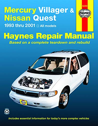 Mercury Villager & Nissan Quest Automotive Repair Manual: Models Covered: All Mercury Villager and Nissan…