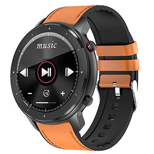 Jorwell 2020 Pantalla Táctil Completa Bluetooth Llamada Reloj Inteligente, Control De Música, Recopilación De Datos Deportivos Pulsera Deportiva Impermeable,Marrón