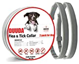 Duuda Dog Flea and Tick Collar - 8 Months Continuous Protection and Prevention - Waterproof and 100% Natural Essential Oil Extract - Adjustable for All Breeds and Size - 2 Pack