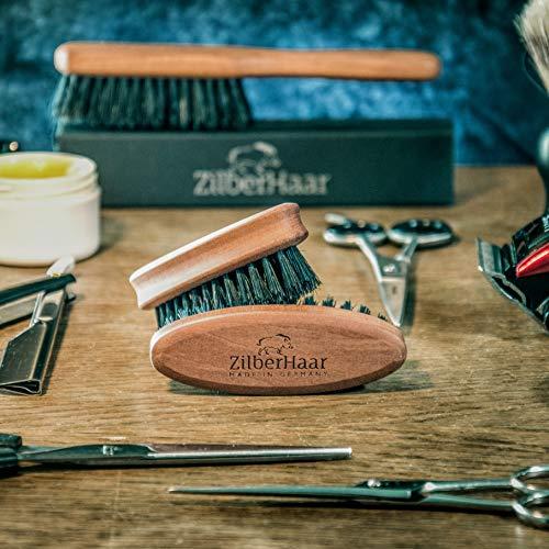 ZilberHaar Brosse à Barbe de Poche • 100% en Poils de Sanglier • Brosse pour Barbe Parfaite...