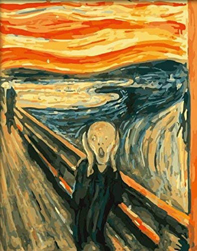 DIY PBN-Paint by Numbers Famous Painting The Scream by Edvard Munch 16-by-20 inches Frameless.