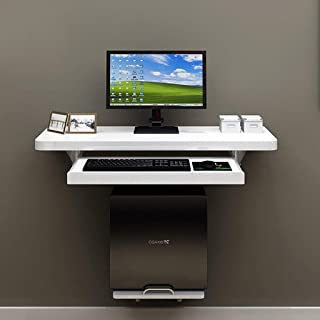 WZF Mesa Plegable Escritorio de computadora Flotante de Pared Mesa de Estudio Escritorio Escritorio portátil portátil con Marco Principal y Bandeja de Teclado Ajustable (Tamaño: 120 cm)