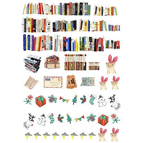 XULIUX 3 set di adesivi per cartoleria, etichette, etichette, diario fatto a mano, diario, taccuino, agenda, diario, adesivi, pianificatore, album, K