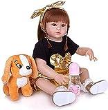 GAOFQ 57 CM Reborn Baby Dolls Cuerpo Completo Vinilo Silicona Realista Muñecas recién Nacidas con Apariencia Real Realista Anatómicamente Correcta Boca magnética Maniquí Moda