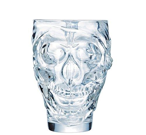 Arcoroc Skull Totenkopf Copas de cóctel, Vidrio, transparente