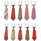 POPETPOP 10 Pezzi Cravatte per Cani Grandi Cravatte per Animali Domestici Cravatte per Cani di Natale Cravatte per Animali Domestici Collare Vacanze Natalizie Accessori per La Toelettatura