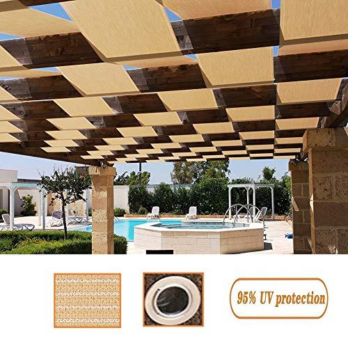 GDMING Pare-Soleil Extérieur Auvent D'auvent Housse De Remplacement Protection UV Perméable Écran pour Balcon Porche Couverture De Pergola Durable Polyester, 50 Tailles