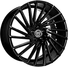 Lexani Wraith – 20 Inch Staggered Rims – Set of 4 Gloss Black Wheels – Made for Sports Racing Cars – Fits Challenger, Charger, Mustang, Camaro, Cadillac and More (20x8.5 / 20x10) – Rines Para Carros