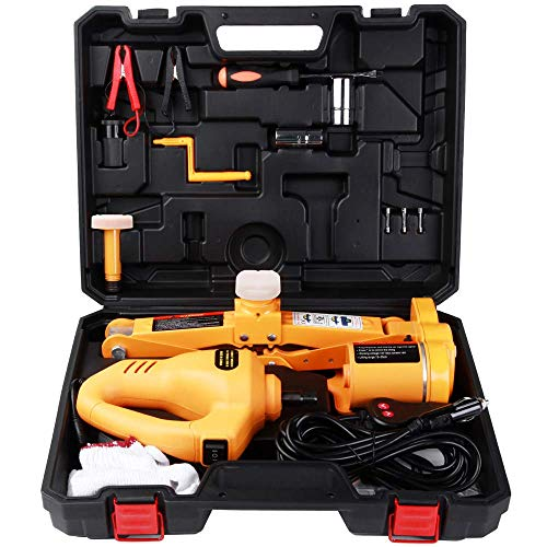 12v Car Jack, 3 Ton Lifting Jack, Portable Automotive Electric Scissor Jack Car Floor Jack Kit Car Garage Van Tool With, 3T ZHANGKANG (Color : 3T)
