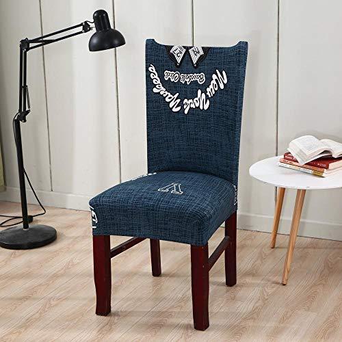 Fundas para sillas Celosía de Letras Spandex Fundas sillas Comedor Lavable Extraíble Funda Muy fácil de Limpiar Duradera Modern Bouquet de la Boda Hotel Decor Restaurante 8/Piezas