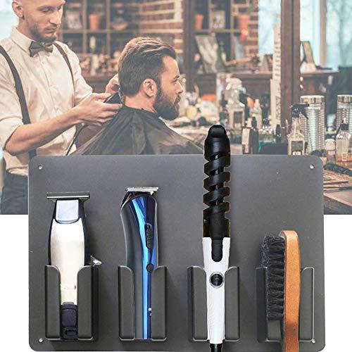 CANDYANA Barber Clipper Tray Anti-Slip Black Salon Clippers Organizer Razor Case Professional Hair Trimmer Holder Hairdresser Stylists Barber Tools Bo