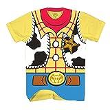Toy Story Sheriff Woody Cowboy Costume Adult T-shirt (Extra Large, Woody)