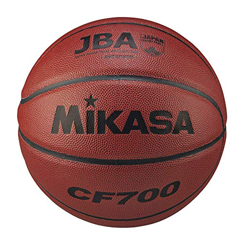 Mikasa CF700 Basketball Japanese Basketball Association Certification Ball, No. 7 (For Boys, General, Corporate, University, High School, Middle School), Artificial Leather, Brown