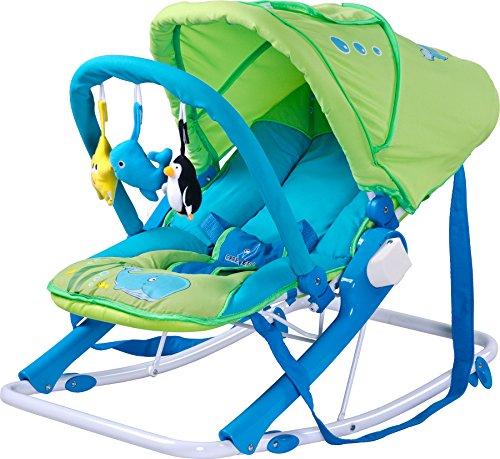 Imagen para Caretero Aqua Blue Balancín con capota, respaldo reclinable y parte arco verde verde Talla:Grün