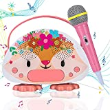 Kids Karaoke Machine for Girls Boys with Microphone Bluetooth Toddler Microphone with Speaker for Singing Children Bedtime Story Machine for Birthday Festival Gift
